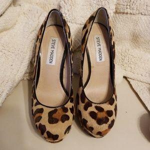 Cheetah Print Steve Madden Platform heels